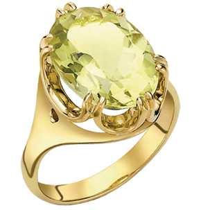 Luxury Lemon Quartz Bloomsbury Cocktail Ring