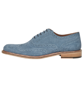 Pale Blue Suede Brogue